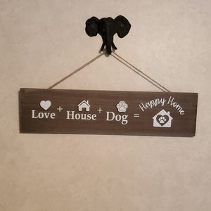 New wooden decorative sign